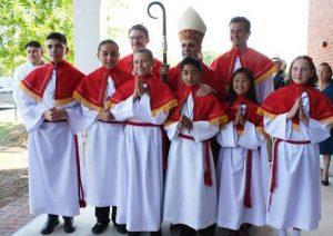 altar servers at st. joseph