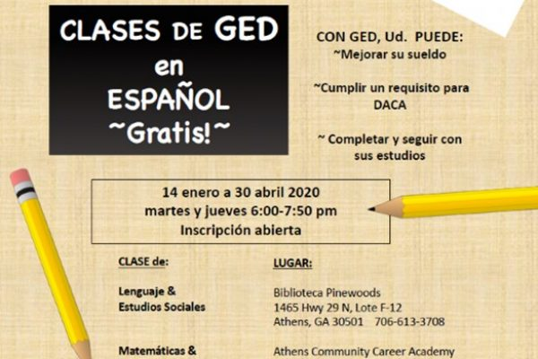 GED Classes in Spanish/ Clases de GED en español gratis!